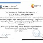 Certificado Gases Fluorados - Manzanares
